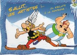 Thèmes > Humour Asterix Salut Les Artistes On S Eclate A La Montagne - Humour