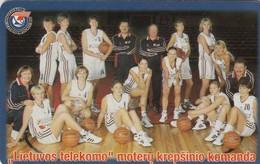 LITUANIA. CHIP. DEPORTES. Lietuvos Telekomas Basket-Ball Team. LT-LTV-C048. (016). - Deportes