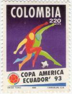 Lote 910, Colombia, 1993, Sello, Stamp, American Soccer Cup, Ecuador, Copa America De Football - Colombia