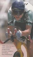 LITUANIA. CHIP. DEPORTES. Cyclist R. Mazeikyte. LT-LTV-C050. (015). - Deportes
