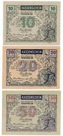 Austria Notgeld Lot / Set - TAUSENDBLUM X 3 - Oesterreich