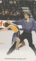 LITUANIA. CHIP. DEPORTES. Skaters M. Drobiazko And P. Vanagas. LT-LTV-C055. (001). - Deportes