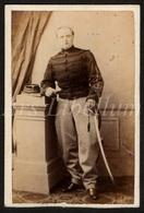 Photo Ancien / Carte De Visite / CDV / Militaire / Soldat / Soldier / 1864 / Lieutenant / Luitenant / Lancier - Photos