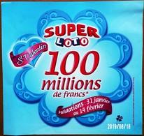 FDJ F.D.J. Fdj AFFICHETTE FRANÇAISE DES JEUX SAINT VALENTIN SUPER LOTO PUBLICITÉ VITRINE UNI FACE 28,5X29,7cm Serbon63 - Biglietti Della Lotteria