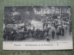 THOUROUT - SINT PIETERSFEESTE OP DE PEERDEMARKT 1906 - Torhout