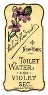 "Etiquette ""Gaufrée"" Richard HUDNUT New York - TOILET WATER VIOLET SEC. - Etiketten"