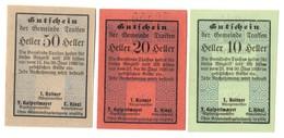 Austria Notgeld Lot / Set - TRAISEN X 3 - Oesterreich