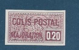 Timbre Neuf* France, N°158 Ou 159 Yt, Colis Postaux, Majoration ,1938, 0.20, Charnière, Non Dentelé Ou Coupé - Mint/Hinged