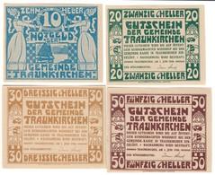 Austria Notgeld Lot / Set - TRAUKIRCHEN X 4 - Austria