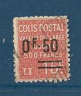 Timbre Oblitéré France, N°55 Yt, Colis Postaux, Valeur Déclarée ,1926, 0.50 Sur 15 C, Charnière, - Colis Postaux