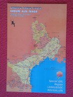POSTAL POST CARD QSL RADIOAFICIONADOS RADIO AMATEUR GRUPPO ALFA TANGO ITALIA FRANCE RÉGION LANGUEDOC ROUSSILLON MAP MAPA - Tarjetas QSL