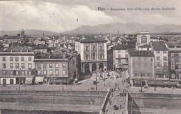 PISA-PANRAMA DELLA CITTA-PIAZZA GARIBALDI-CARTOLINA NON VIAGGIATA ANNO 1915-1925 - Pisa