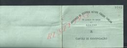PORTUGAL CARTE ASSOCIACAO DE SOCORROS MUTUOS FUNEBRE FAMILILIAR DE MODIVAS VILA DO CONDE 1926 : - Portugal