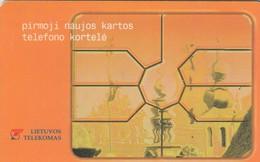 LITUANIA. CHIP. The First Card 75. LT-LTV-C003A. 4 Nº: 3492. (082). - Lituania