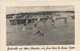 50, Manche, HAUTEVILLE SUR MER, Les Jeux Dans Les Dunes, Scan Recto Verso - France