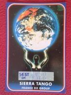 POSTAL POST CARD QSL RADIOAFICIONADOS RADIO AMATEUR SIERRA ALFA FRANCE EARTH WORLD GLOBO TERRAQUEO TIERRA PLANETA PLANET - Tarjetas QSL
