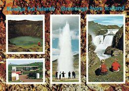1 AK Island Iceland * Sehenswürdigkeiten - Der Gullfoss - Der Kratersee Kerið Und Der Strokkur * - Island