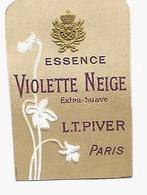 """Etiquette """"Gaufrée"""" L.T. PIVER Paris, ESSENCE VIOLETTE NEIGE Extra-Suave - Etiketten"""