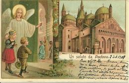 Padova (Veneto) Un Saluto Da Padova, Riproduzione D35, Reproduction, Illustrazione - Padova