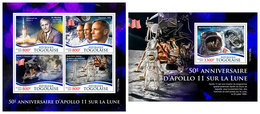 TOGO 2019 - Apollo 11. M/S + S/S. Official Issue [TG190239] - Space