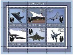 Guinée Bissau  2001 Concorde Charles De GAULLE  Couleurs Foncées MNH - De Gaulle (General)