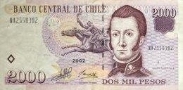Chile 2.000 Pesos, P-158 (2002) - Very Fine - Chile