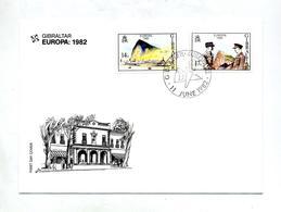 Lettre Fdc 1982 Europa - Gibilterra