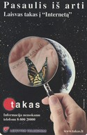 LITUANIA. CHIP. MARIPOSA, Takas. LT-LTV-C011. (010). - Mariposas
