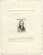 1328) Épreuve D'artiste N°1149 Claude Louis Berthollet En Noir, Numérotée Et Signée Jacques Combet - Epreuves De Luxe