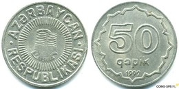 Azerbaijan - 50 Qapik 1992 UNC Bank Bag Copeer - Nickel - Aserbaidschan