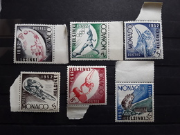 MONACO 1952 Serie Jeux Olympiques Olympics HELSINKI Yvert 386 / 391 Neuve ** MNH TB - Sommer 1952: Helsinki