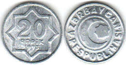 Azerbaijan - 20 Qapik 1993 UNC Bank Bag Aluminum - Aserbaidschan