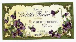 Etiquette VIBERT FRERES Parfumeurs Paris, SAVON VIOLETTA FLORIDA - Etiketten