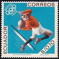 Soccer Football Ecuador #1325 1968 MNH ** - Unused Stamps