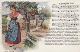 AK - Liederkarte - Gruss Aus Dem Erzgebirge - S Gebergische  Mädl - Sonstige