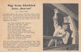 AK - Liederkarte - Sag Beim Abschied Leise Servus - 1942 - Sonstige