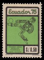 Soccer Football Ecuador #1668 1975 MNH ** - Unused Stamps