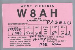 US.- QSL KAART. CARD. W8AH. ALBERT H. HIX, CHARLESTON, WEST VIRGINIA. KANAWHA COUNTY. U.S.A. - Radio-amateur