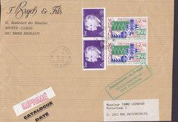 Monaco IMPRIMÉ Label F. BRYCH & Fls MONTE CARLO 1988 Cover Lettre (Front Only!) BAD ZWISCHENALEN Electro Mecanique - Monaco