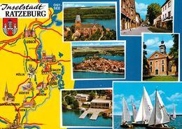 1 Map Of Germany * 1 Ansichtskarte Mit Der Landkarte - Inselstadt Ratzeburg Und Umgebung * - Landkarten