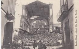 REGGIO CALABRIA-AVANZI DELLA CHIESA DEL ROSARIO-CARTOLINA VIAGGIATA IL 15-5-1913 - Reggio Calabria