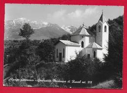 CARTOLINA VG ITALIA - ALPAGO PITTORESCO - Santuario Madonna Di Runal - 10 X 15 - 1963 FARRA D'ALPAGO - Belluno
