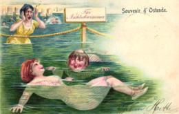 Ostende, Badende Menschen, Scherz-AK, 1903 - Oostende