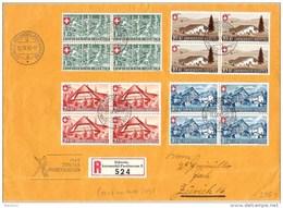 Schweiz Suisse 1945: Pro Patria Zu 26-29 Mi 460-463 Yv 419-422 Block O 10.IX.45 ZÜRCHER KNABENSCHIESSEN  (Zu CHF 320.00) - Cartas