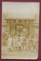 130819A - PHOTO ASIE CHINE Enfant Mouvement Yeux Bandés Temple - Photos