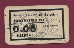 130819A - ESPAGNE BARCELONA Prision Celular De Barcelona Economato BON De 0,05 Pesetas N°03447 - PRISON PRISONNIER - Mapas
