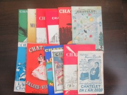 Lot De 12 Programmes Anciens Illustrés Du Théâtre Du Châtelet - Bel Ensemble - Programs