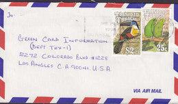 Trinidad & Tobago Slogan 'The Post Your Universal Partner' PORT OF SPAIN 1991 Cover Brief 25c. & $2.25 Bird Vogel Oiseau - Trinidad Y Tobago (1962-...)