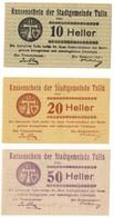 Austria Notgeld Lot / Set - TULLN X 3 - Oesterreich
