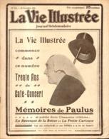 """LA VIE ILLUSTREE N°424 De 1906 """" LES MEMOIRES De PAULUS 30 ANS DE CAFE CONCERT """" - 1900 - 1949"""